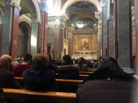 Una foto dell'omelia di don Pasquale Cristiani